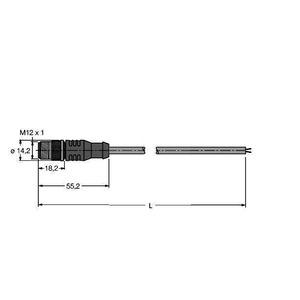RSSW451-6M, PROFIBUS-Leitung, PUR-Kabelmantel