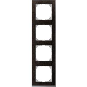 M-Pure Decor-Rahmen, 4fach, Wenge/aluminium, M-Pure Decor