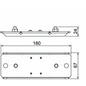 BSKM-AD 0407, Auflager für abgehängte Montage 40x70, St, FS