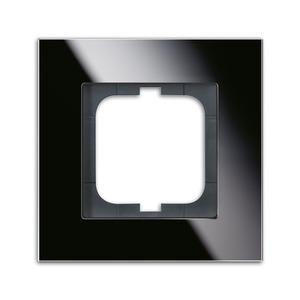 1721-825, carat Abdeckrahmen 1721-825 1-fach Glas schwarz