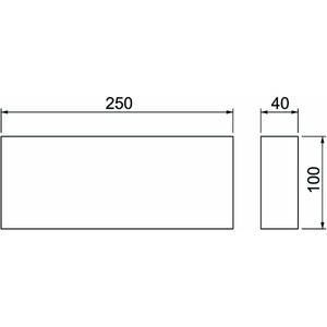 BSKM-KA 1025, Schaumstoffdichtung für Kabelausgang 100x250
