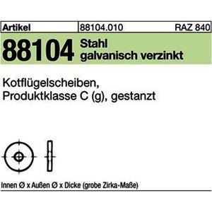 ART 88104 Kotfl.-Sch. St. 10,5x 25 x 1,5 galv. verzinkt gal Zn VE=S