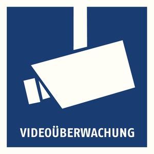 Warnaufkleber Videoüberwachung 90 x 90 m