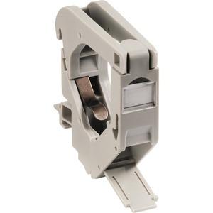 MegaLine Connect45 Hutschienenadapter, RAL7035, anreihbar, 1-fach Keystone