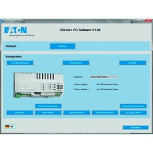 PC-Software CGLine+ Web-Controller, PC Software für CGLine+ Web-Controller