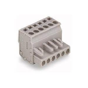 1-Leiter-Federleiste abgewinkelt 2,5 mm² Rastermaß 5 mm 7-polig grau