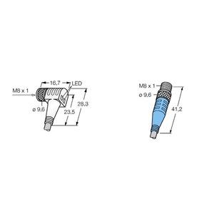 SWKP3P2-1-SSP3/S90, Verbindungsleitungen, Kupplung M8 x 1 - Stecker M8 x 1
