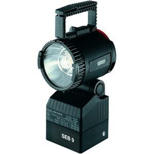 1 1147 009 002, Ex-Handscheinwerfer SEB 9 für 4;8 V/ 9,5 Ah ladbare NiMH Batteriemit Halogen-Hüllkolbenlampe, Nebenlicht-Glühlampe, Streulinse und Batterie (ladbar mi