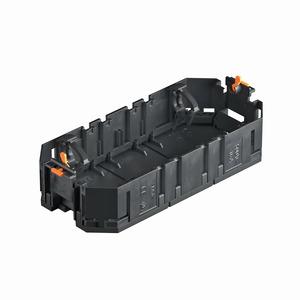 UT3, Universalträger für Installationsgeräte 165x76x36, PA, graphitschwarz, RAL 9011