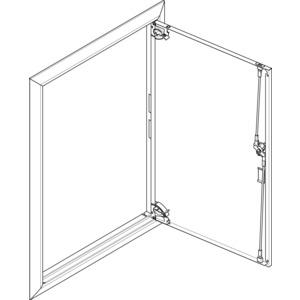 Blendrahmen mit Volltür für UP/HW-Flachverteiler 2x6-reihig