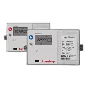 KAM-MC62, KNX Warm-Wasserzähler Kamstrup Multical 62  Q3 2,5 / DN20 / 190mm / G1 / 90°C