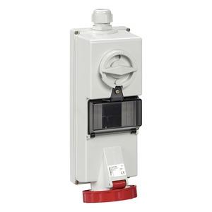 Steckdose mit Verriegelung, 32A, 3p+N+E, 380-415 V AC, IP65, Aufputz