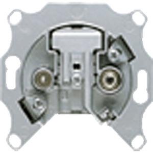 EDU 04 F, Antennendose, Universal-Super-Breitband, 2-Loch, Einzeldose