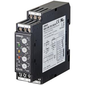K8AK-AW3 24VAC/DC, 1-Ph.-Strombereichsüberwachung (H-L / L-L /  H-H), bis 200  AC (per Stromwandler)