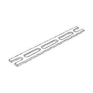516/3040, Schlitzbandeisen, Breite 30 mm, Länge 2000 mm, M-Stärke=4 mm, Stahl, feuerverzinkt DIN EN ISO 1461