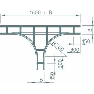 WLT 1160 FS, T-Abzweigstück für Weitspannkabelleiter 110, 110x600, WLT 1160