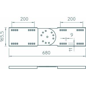 WRGV 160 FS, Gelenkverbinder für Weitspann-System 160 160x680, St, FS