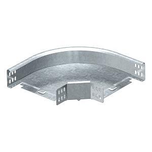 RB 90 620 FS, Bogen 90° horizontal,mit Winkelverbinder 60x200, St, FS