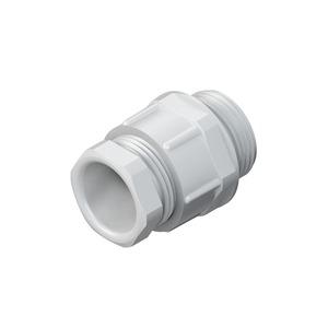 250/16, CONUS-Kabelverschraubung, Pg 16, Kabel-Ø 11-14 mm, Gewindelänge 10 mm, Kunststoff PS, RAL 7035, lichtgrau