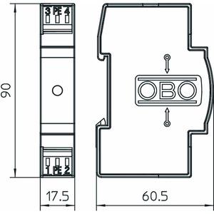 VF12-AC DC, Blitzbarriere für AC und DC 12V AC