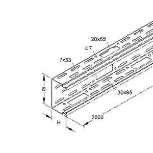 LI 60.150, Industriekanal ohne Deckel, 60x150x2000 mm, Stahl, bandverzinkt DIN EN 10346