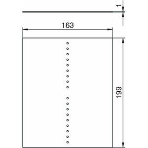 VH-8 TW, Trennwand für VH8, PVC, graphitschwarz, RAL 9011