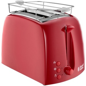 21642-56, Russell Hobbs Textures Red Toaster 21642-56