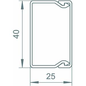 WDK25040CW, Wand- und Deckenkanal mit Bodenlochung 25x40x2000, PVC, cremeweiß, RAL 9001