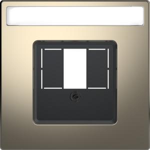 Zentralpl. m. rechteckigem Ausschnitt u. Schriftf., Nickelmetallic, Sys. Design