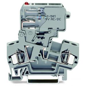 2-Leiter-Sicherungsklemme mit schwenkbarem Sicherungshalter für G-Sicherungseinsatz 5 x 20 mm 15 - 30 V 4 mm² grau