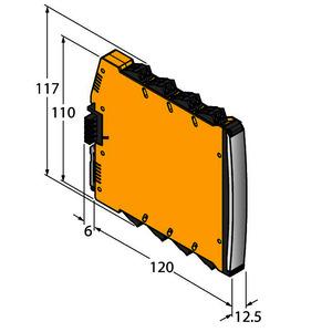 IMX12-FI01-1SF-1I1R-CPR/24VDC, Frequenzmessumformer / Puls-Counter, 1-kanalig, TÜV 16 ATEX 192124 X