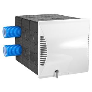 DL 50 Q2, Wandhülse quadratisch mit Nebenraumanschluss und Außenwandblende