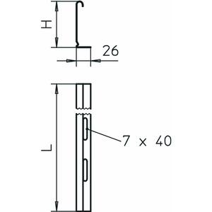 TSG 110 A2, Trennsteg für Kabeltragsysteme 110x3000, V2A, A2