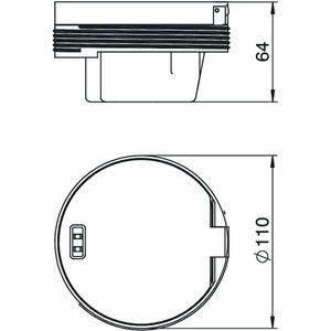 GESRC2 UAB, Geräteeinsatz mit Anlegerahmen, verchromt 130x130x64, Zn, CR