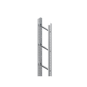 STL 60.203/3, Steigetrasse, 60x200x3000 mm, Sprossenabstand 300 mm, 1 kN, t=1,5 mm, Stahl, bandverzinkt DIN EN 10346