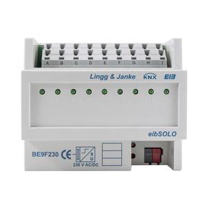 BE9F230, KNX standard Binäreingang 9-fach, Signaleingang 230VAC, 6 TE;
