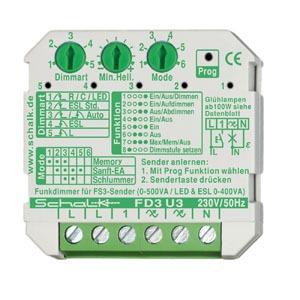 FD3 U3, Funk-Universal-Dimmer 230V AC (UP), Fx3smart, auch f. LED
