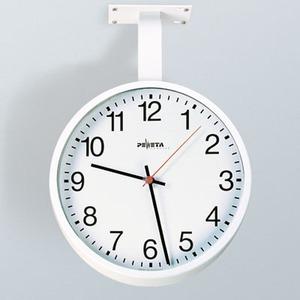 Netzwerkuhr, NTP Synchronisation über LAN, Ø 420 mm Zifferblätter weiß, arabische Zahlen doppelseitig, mit Deckenhalterung (150 mm)
