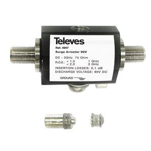 Überspannungsschutz 0 - 3000 MHz mit Erdungsanschluss