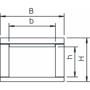 BSKP 0406, Brandschutzkanal I30 für Photovoltaik 40x60x1000, BET, grau