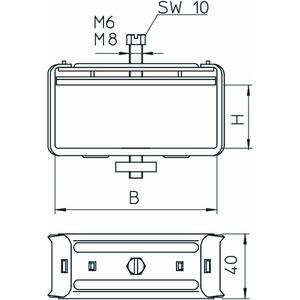 2056 B 80 A2, Bündelschelle 80x100mm, V2A, A2