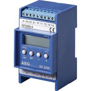 GF 2200-2, Aufladeregler, Anschluss 2 NTC-Restwärmefühler, Verteilereinbau