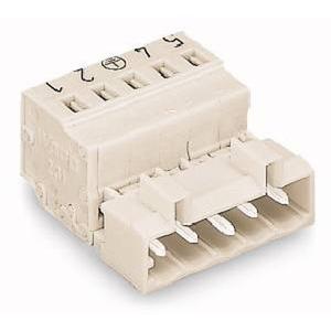 1-Leiter-Stiftleiste 100% fehlsteckgeschützt 2,5 mm² Rastermaß 5 mm 4-polig lichtgrau