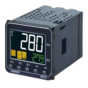 E5CC-QX2ABM-004, Temperaturregler, 1/16DIN (48 x 48mm), 12VDC Pulsausgang, 2 Hilfsausgänge, Universaleingang, 2x Eventeingänge, RS485, 100-240VAC