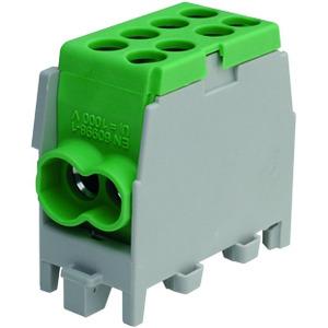 HLAK 25-1/2 M2 grün, minimodulare Hauptleitungs-Abzweigklemme HLAK 25-1/2 M2  grün