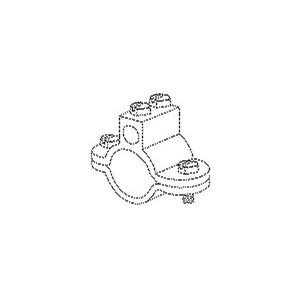 36/1, Erdungs-Rohrschelle, 73x80x35 mm, für Rohr-Ø 33,5 mm, Stahl, feuerverzinkt DIN EN ISO 1461