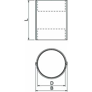 CTS-150, Rohrschale innenbeschichtet Ø107x150mm, PVC, grau