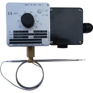 Ex-Raumthermostat, einstellbar -20…+50°C, mit Drehknopf, 16A 230V, IP66