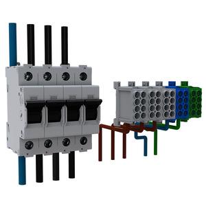 Best.-Paket Einsp. an Bezugszähler 3Pkt (44A)für BH9, VSS 16 mm²