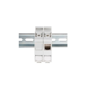Hutschienen Adapter für 1x Keystone Modul IP20, inkl. Beschriftungsfeld und Staubschutz, passend für DN-93617